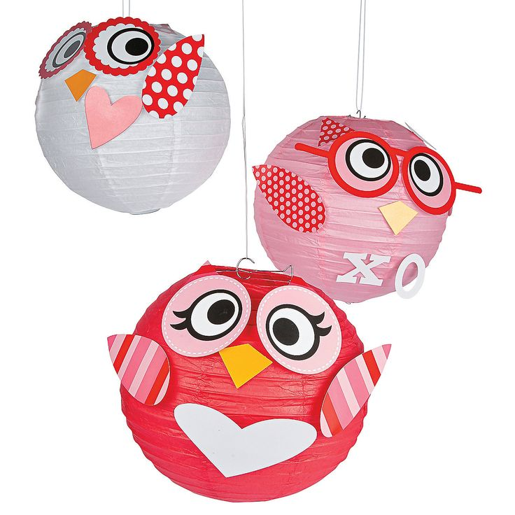 Valentine+Owl+Paper+Lanterns+-+OrientalTrading.com