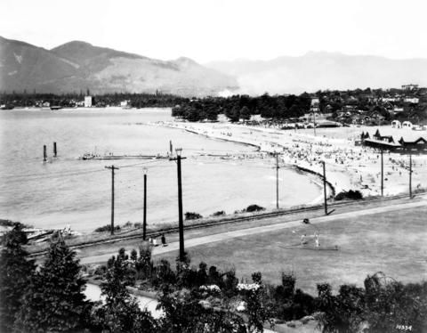 [View of Kitsilano Beach] 1928  City of Vancouver Archives