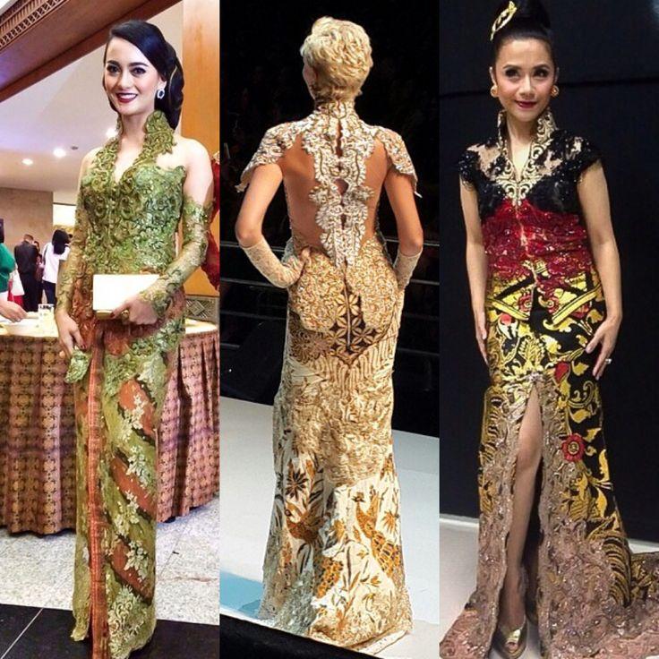 #indonesian women wearing #kebaya by desaigner indonesia