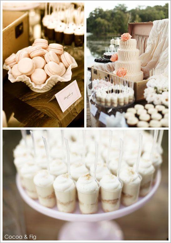 Rustic Chic Pale Pink & Peach Wedding Cake: Dessert Tables, Peach Weddings, Banana Pudding Desserts, Vintage, Peach Wedding Cakes, Wedding Cake Pink, Peach Dessert, Dessert Display