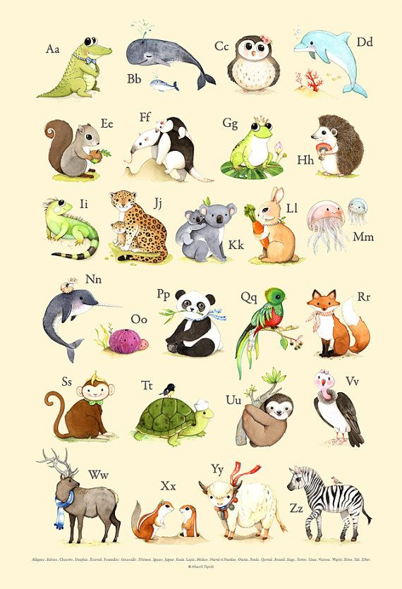 Animal alphabet print in French  Maybe you dont believe me, but I have many vivid childhood memories. I remember what I used to like and dislike clearly.