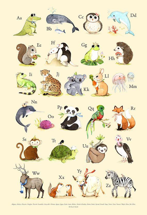 Affiche de l'Alphabet Français affiche de Français par joojoo