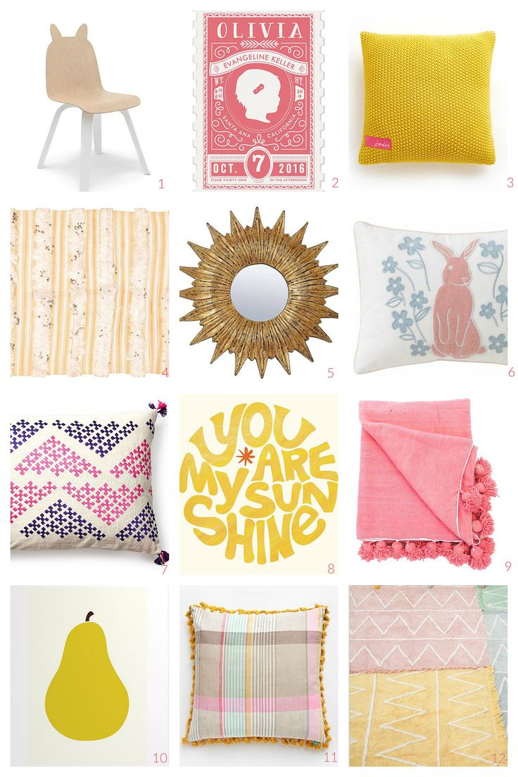Pink & Yellow : The Sweetest Girls' Rooms