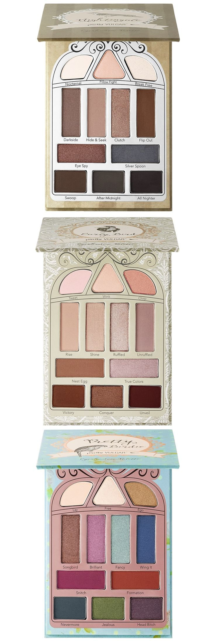 Pretty Vulgar Cosmetics Eyeshadow Palettes