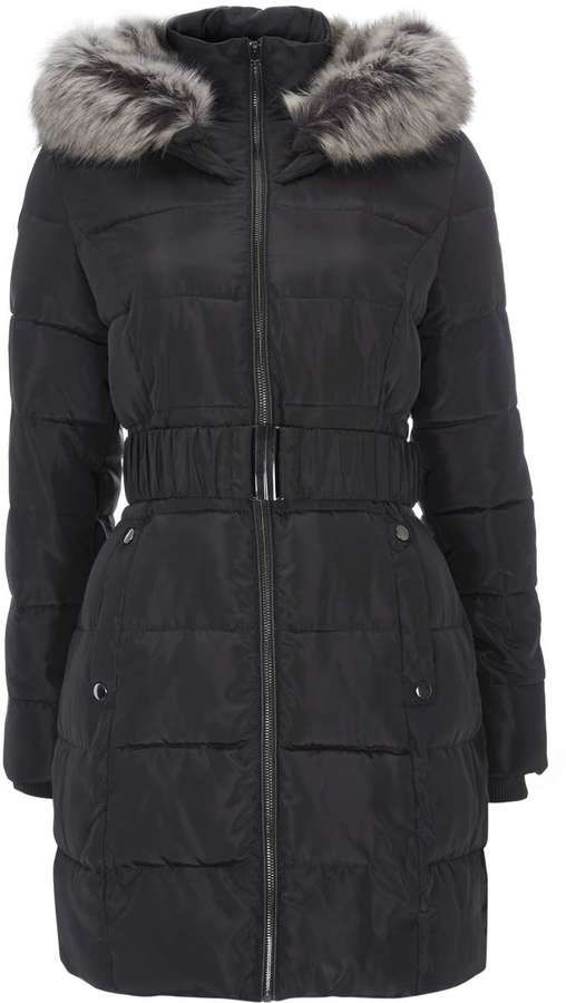 Petite Grey Padded Coat