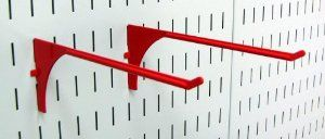 Wall Control Pegboard 9in Reach Extended Slotted Hook Pair - Slotted Metal Pegboard Hooks for Wall Control Pegboard and Slotted Tool Board - Red by Wall Control. $6.99. The Wall Control Pegboard 9in Reach Extended Slotted Hook for Wall Control's Pegboard and Slotted Tool Board is great for garage tool storage and organization and is a great pegboard hook for hanging many items such as extension cords, air hoses, garden hoses, rope, small ladders, spools, tape rolls, stor...