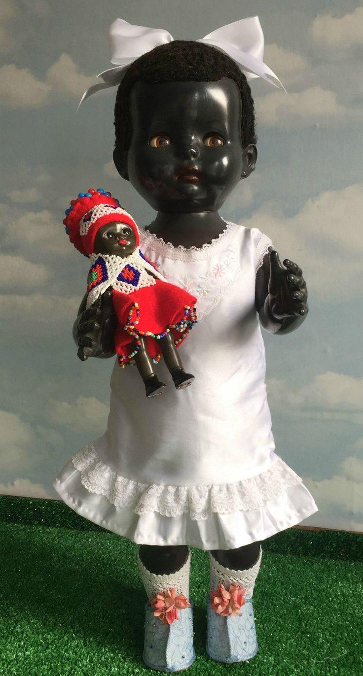 "VINTAGE PEDIGREE HP HARD PLASTIC BLACK WALKER DOLL 1950S 21"" + HER AFRICAN BABY in Dolls & Bears, Dolls, Clothing & Accessories, Vintage Dolls | eBay!"