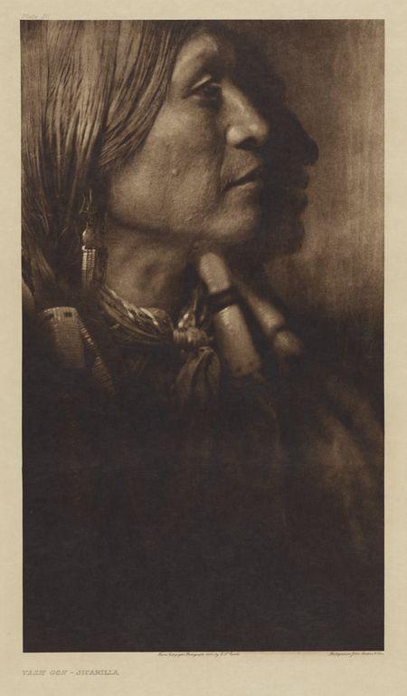 """Vash Gon - Jicarilla,"" Edward S. Curtis, 1904."