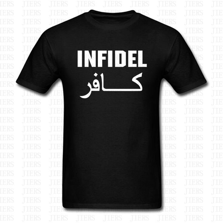 Fashion Letters Print Infidel T-Shirt English Retro Cool Military Funny Slogan Men Women Cotton O Neck Short Sleeve Tshirt Tops #Affiliate