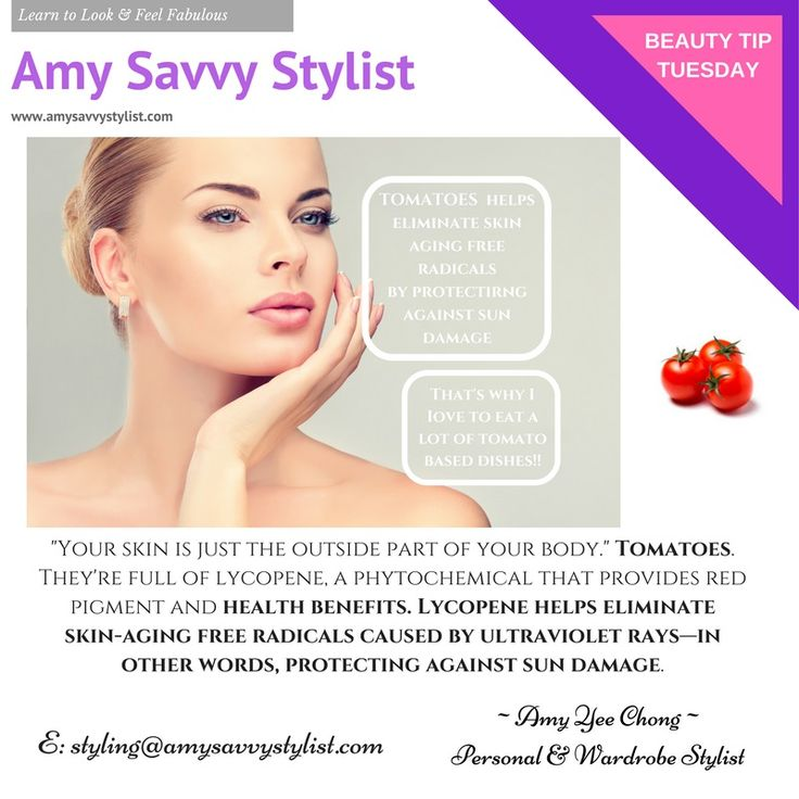 BEAUTY TIP TUESDAY!   FACT: Tomatoes are a natural way to maintain healthy looking skin!   I think I'll continue to eat a lot of tomato sauce based dishes!    #beauty #beautytips #skincare #amysavvystylist #personalstylist #imageconsultant