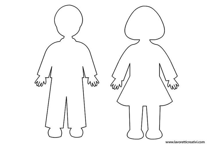 """Sagome di bambini che potete stampare e utilizzare come volete! Per salvare l'immagine cliccate sul disegno con il tasto destro del mouse e andate su """"Salva immagine con nome"""". SAGOME BAMBINI PER L..."""