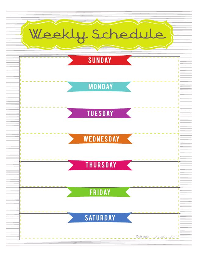 1000 ideas about Weekly Schedule – Free Weekly Schedule Template