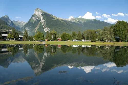 Samoens, French Alps in Summer. Lake and Mountain Peaks, gorgeous.