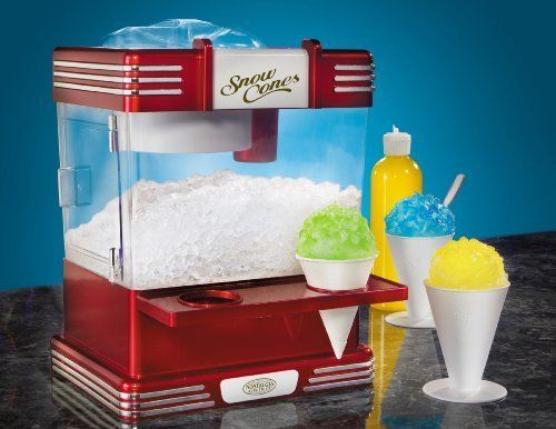 Nostalgia Electrics Snow Cone Machines Shaved Ice Makers Storage Retro Cups #NostalgiaElectrics