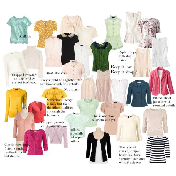 Soft Gamine Tops. What To Wear.
