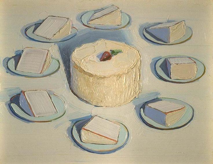 Wayne Thiebaud Around the Cake 1962 oil on canvas