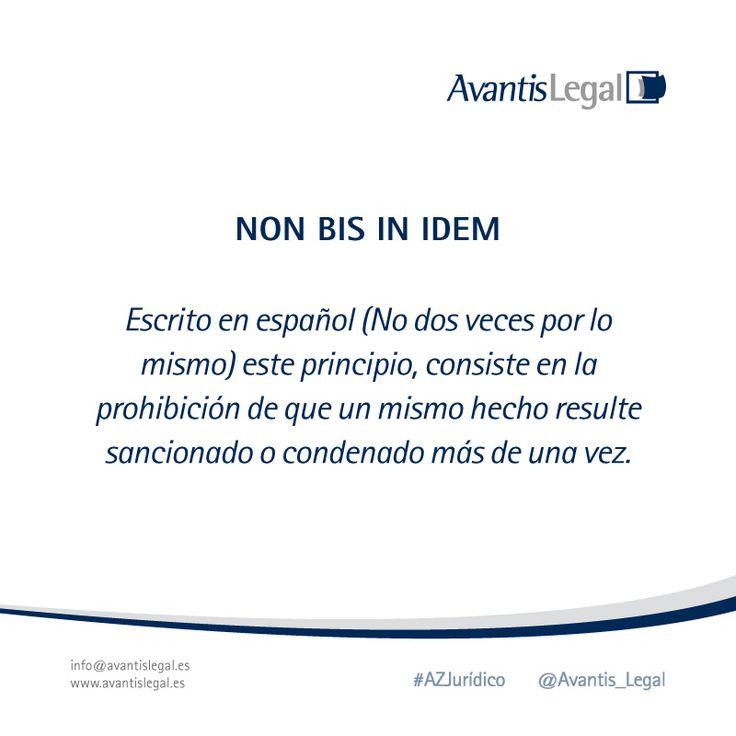 """El primer #AzJurídico del mes es otro """"latinajo Jurídico"""", descubre aquí el significado de """"Non bis in idem"""""""