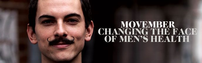 A new way to approach No Shave November- Movember. A mustache that raises awareness and funds for prostate cancer, as well as many other cancers that affect men.