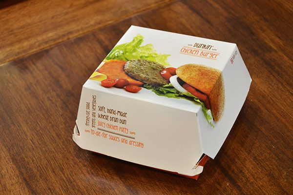 Dunkin' Donuts India - Burger & Wraps Packaging Designs on Behance