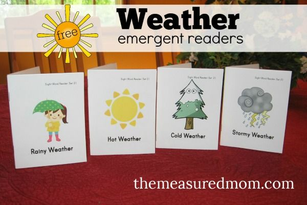 Practice reading at home with these free printable books about the weather  - great for kids ages 4-7