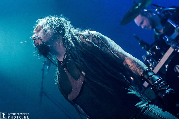 Leather shirt and wristband for Tomi Joutsen / Amorphis. | gTIE Neckwear & Accessories | photo: Ton Dekkers