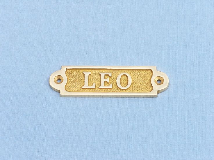 """Solid Brass Leo Sign 4"""""""