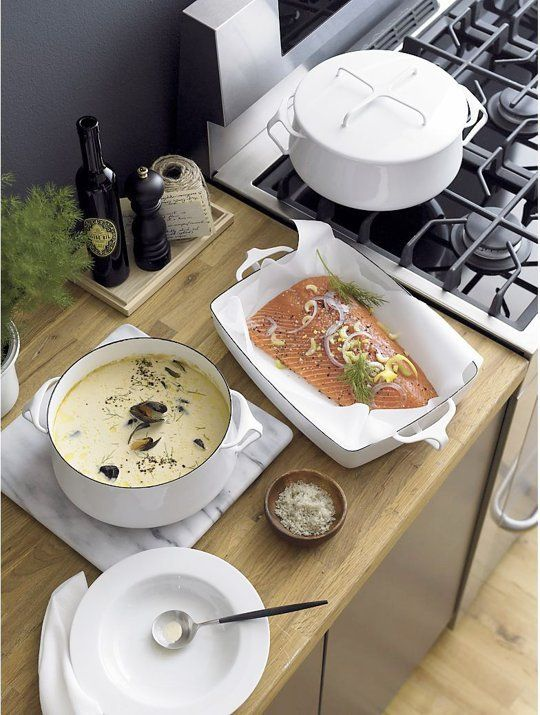 it would be a DREAM to own a collection of white dansk kobenstyle cookware \\ 5 Reasons We Love Dansk Kobenstyle Cookware