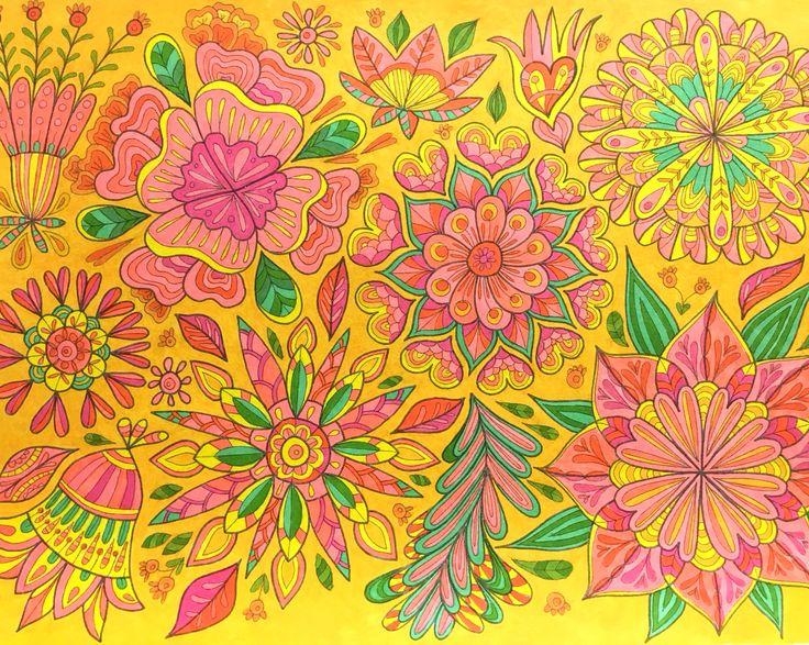 Coloring page from Mielikuvia vol 1 colouring book by Päivi Vesala.