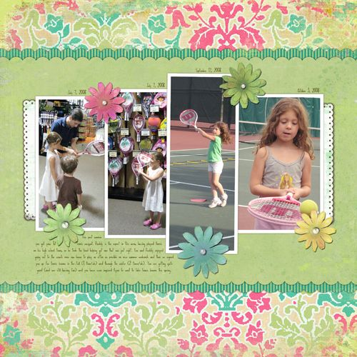 School scrapbook page layouts digital scrapbooking layout tennis scrapbook pages - Scrapbooking idees pages ...