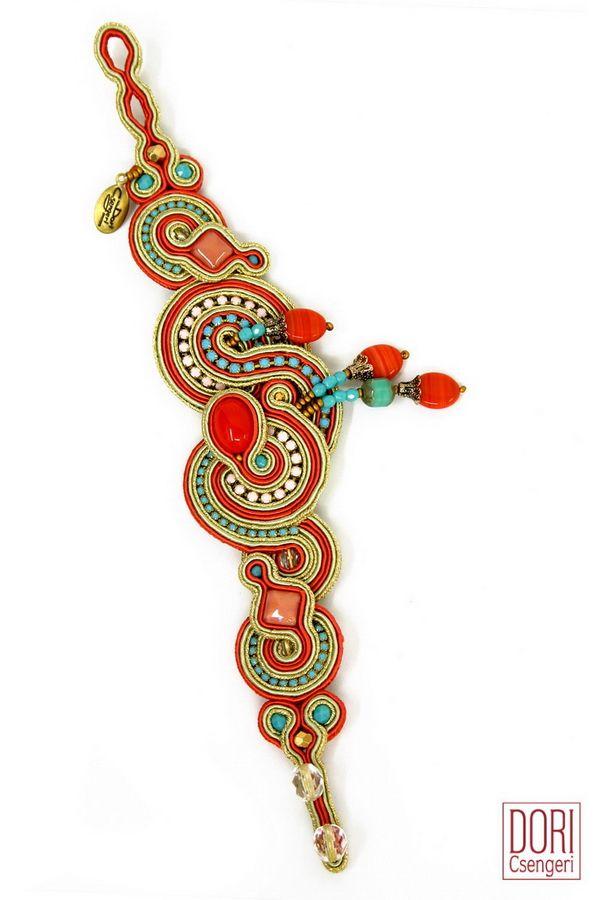 Stunning resort bracelet in coral & turquoise by Dori Csengeri…