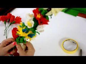 Palma Wielkanocna z bibuły #4 DIY, Easter Palm tissue |, My Crafts and DIY Projects