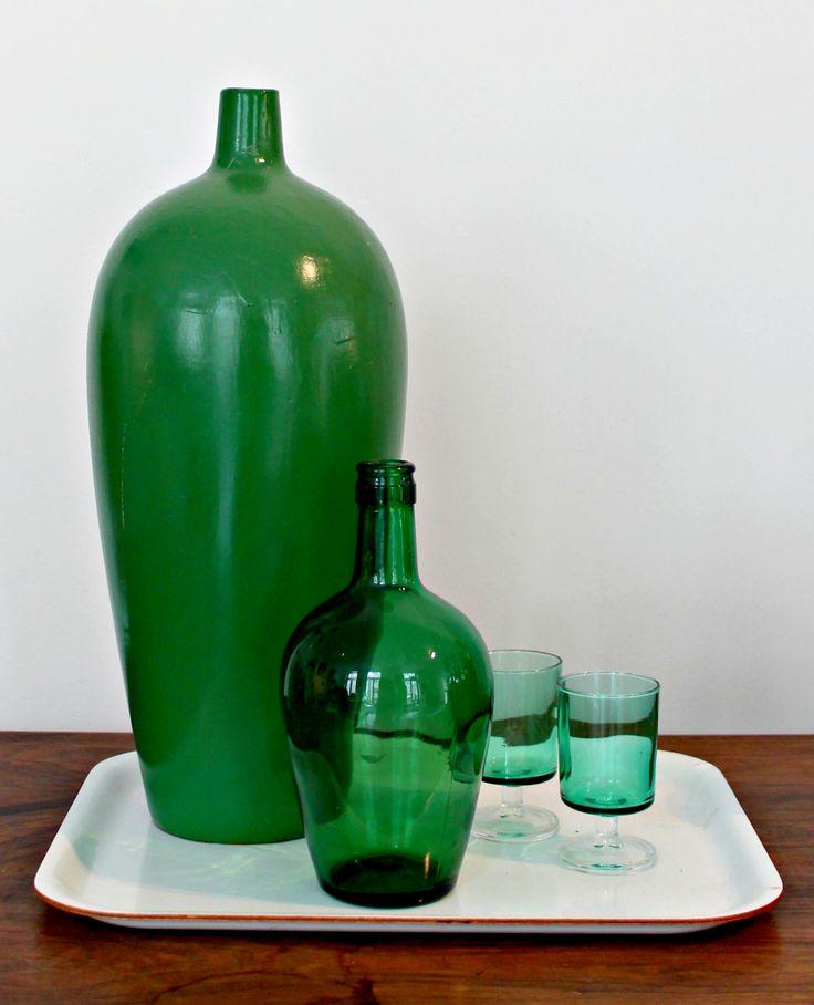 Groen glaswerk en keramiek #V.O.F.