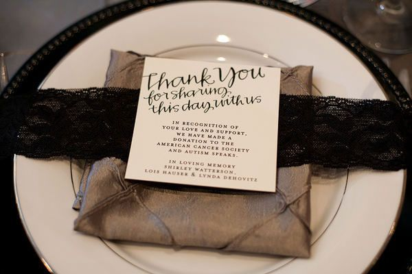 Pay it forward and give back to your community with charitable wedding favors.
