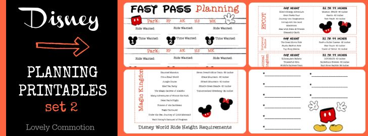Disney Planning Binder {with printables} - Lovely Commotion