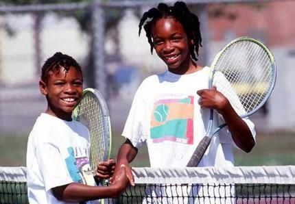 venus and serena williams a lonnnnnnnnng time ago but still cool