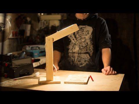 Настольная лампа из дерева - YouTube