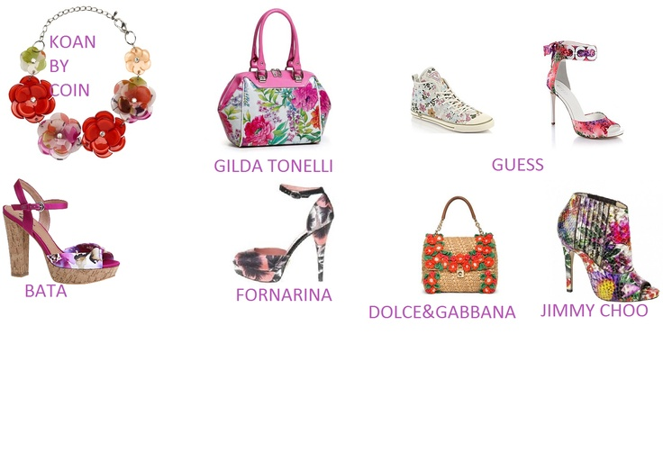 Collana KOAN by Coin €14,90-Bauletto GILDATonelli-Sneakers €130,00 Guess-Sandali €165,00 Guess- Sandalo BATA €49,90- Decolletè Fornarina- Borsa @Dolce & Gabbana -Ankle Boot @Jimmy Choo