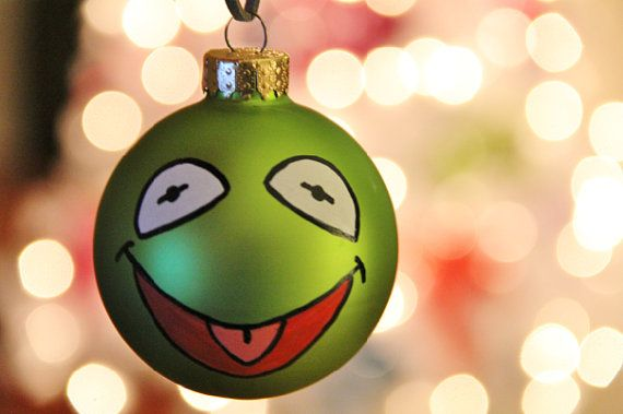 Kermit the Frog Christmas Ornament by EchoBase on Etsy