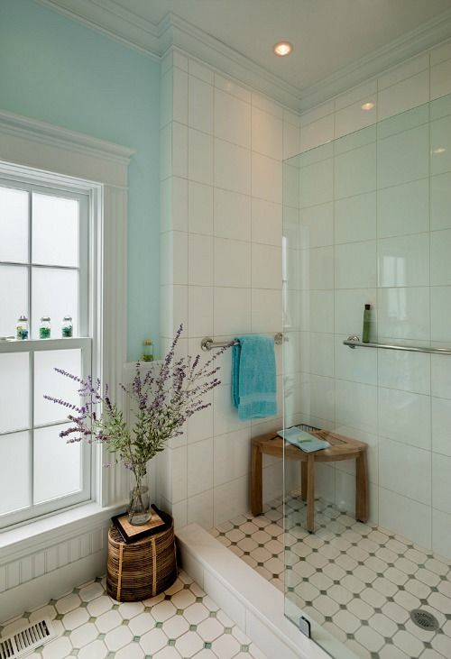 181 best country bathrooms images on pinterest for Country cottage floor tiles