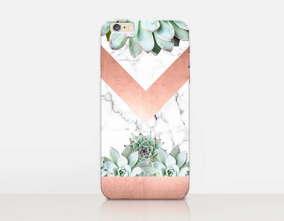 Succulent Marble Phone Case iPhone 6 Case iPhone 5 by CRCases