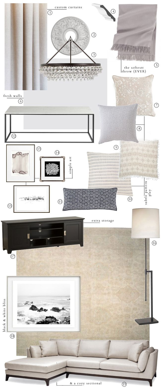 One Room Challenge Week Three Our Living Design Plan