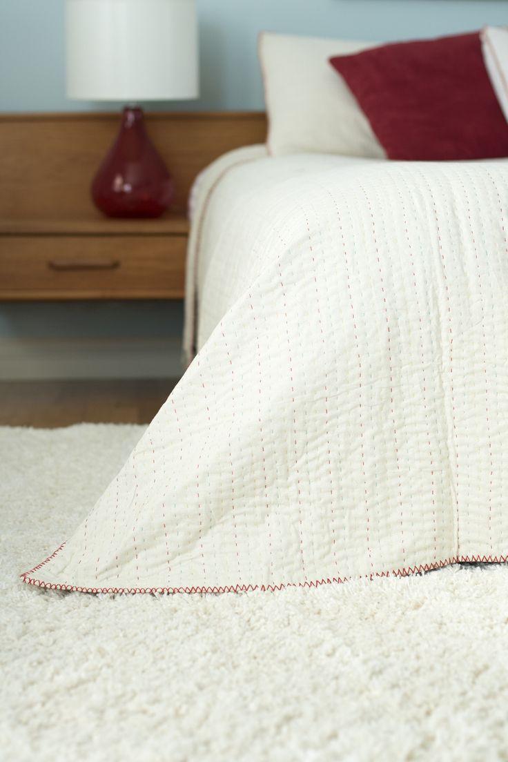 Modern quilt bedding - Modern White Quilt Bedding