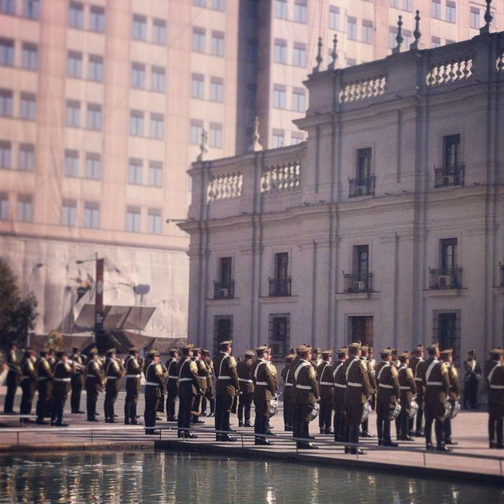 Palacio de la Moneda, Santiago, Chile.