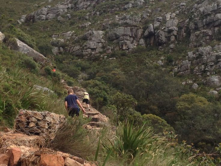 My boys ascending table mountain- Oct 2017