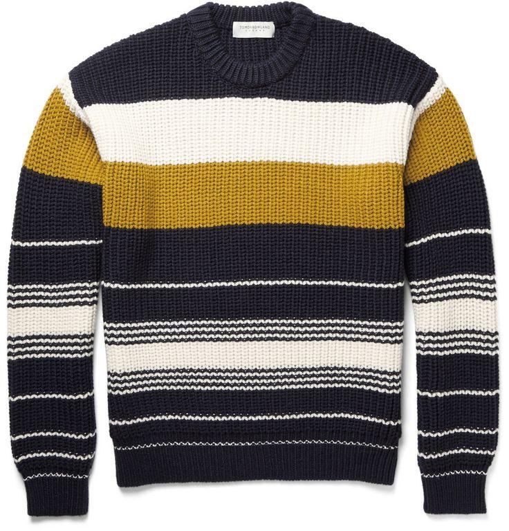 Tomorrowland - Chunky-Knit Striped Wool Sweater|MR PORTER