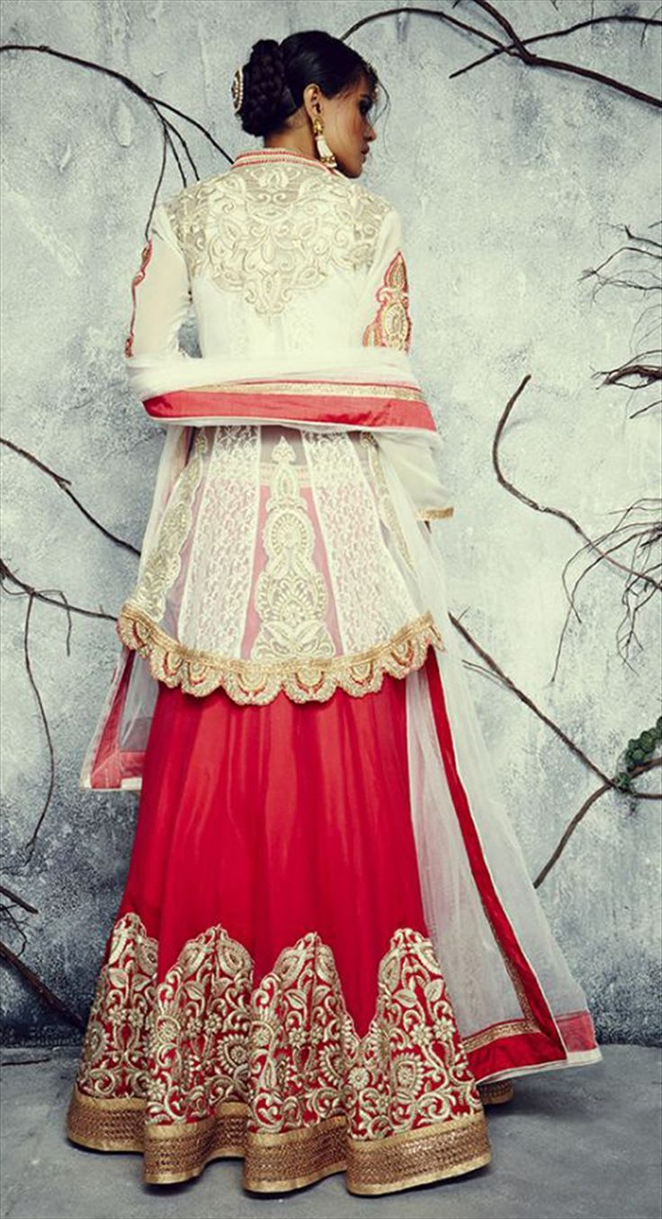 179876: Red and Maroon color family Long Lehenga Choli.