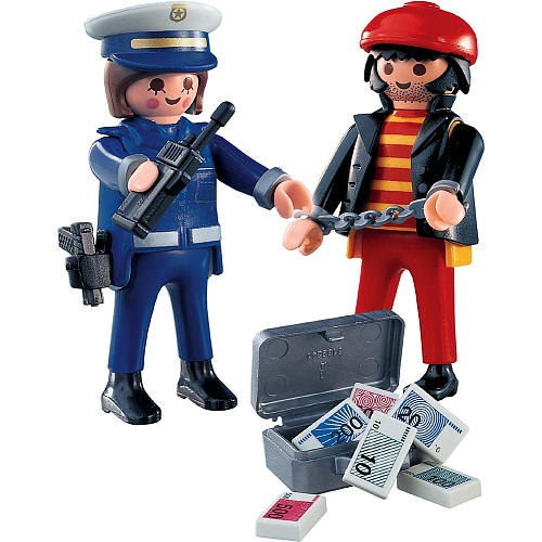 playmobil police playset police with thief playmobil toys