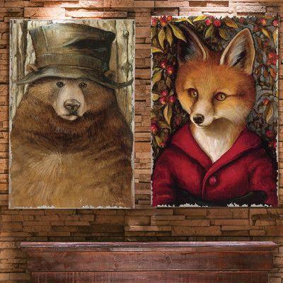 Cape Craftsmen Old Bear and Fox Burlap by Jayne Siroshton ...