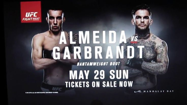UFC Fight Night 88 Main card (FOX Sports 1 at 9 p.m. ET) Thomas Almeida vs. Cody Garbrandt Renan Barao vs. Jeremy Stephens Tarec Saffiedine vs. Rick Story Chris Camozzi vs. Vitor Miranda Jorge Masvidal vs. Lorenz Larkin Josh Burkman vs. Paul Felder Undercard (FOX Sports 1 at 8 p.m. ET) Sara McMann vs. Jessica …