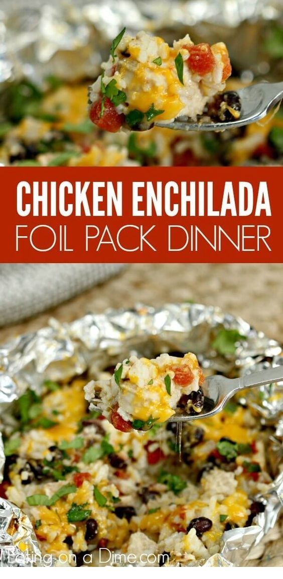 CHICKEN FLOUR ENCHILADA LEAF WITH EASY CHICKEN – Dinner Pack Pack – #Chick …   – Foil Pack Recipes
